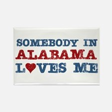 Somebody in Alabama Loves Me Rectangle Magnet (100