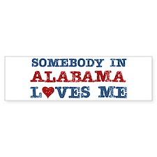 Somebody in Alabama Loves Me Bumper Bumper Sticker