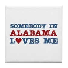 Somebody in Alabama Loves Me Tile Coaster