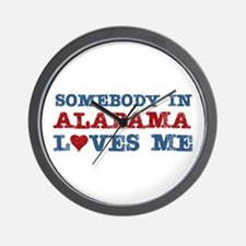 Somebody in Alabama Loves Me Wall Clock