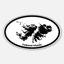Falkland Islands Outline Oval Decal