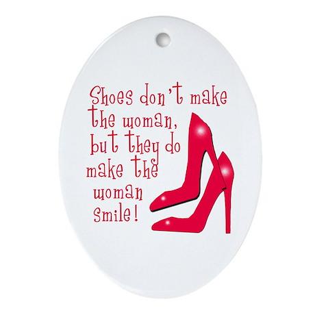 Sexy Shoe Humor Oval Ornament