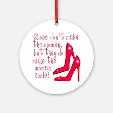 Sexy Shoe Humor Ornament (Round)