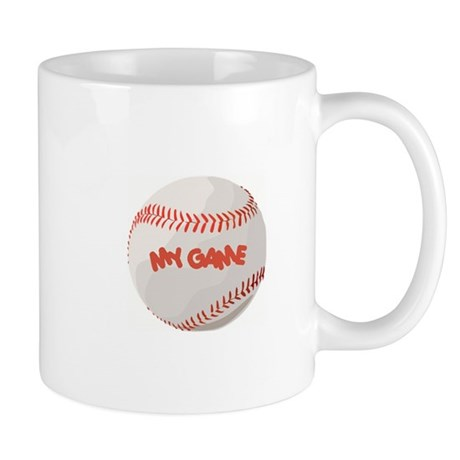 """""""My Game"""" baseball Mug"""