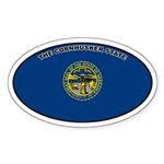 Nebraska State Flag Oval Sticker