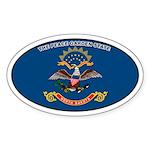 North Dakota State Flag Oval Sticker