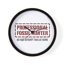 Professional Fossil Hunter Wall Clock