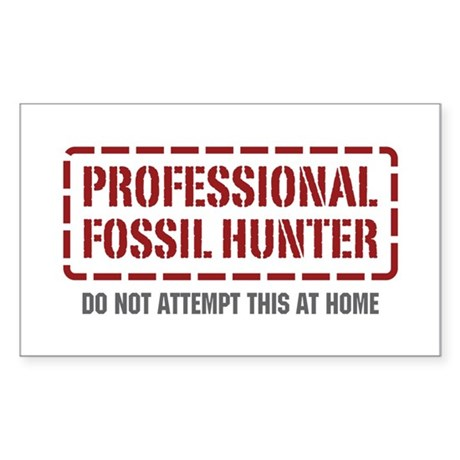 Professional Fossil Hunter Rectangle Sticker