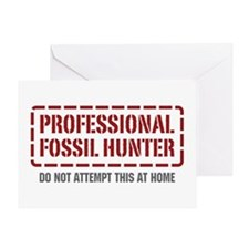 Professional Fossil Hunter Greeting Card