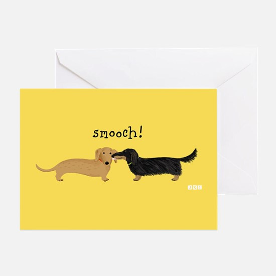 Dachshund Smooch Greeting Card