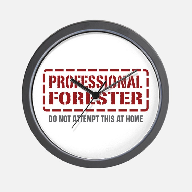 Professional Forester Wall Clock