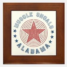 Muscle Shoals, Alabama Souvenir Framed Tile