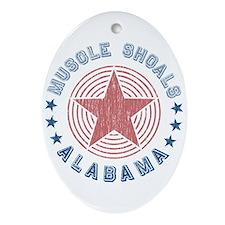 Muscle Shoals, Alabama Souvenir Oval Ornament