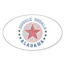 Muscle Shoals, Alabama Souvenir Oval Decal