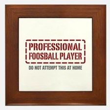 Professional Foosball Player Framed Tile