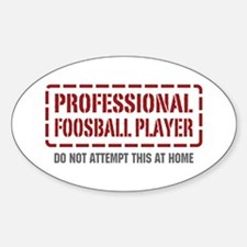 Professional Foosball Player Oval Decal