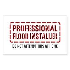 Professional Floor Installer Rectangle Decal