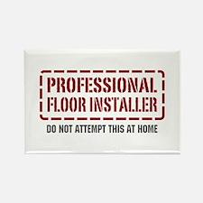 Professional Floor Installer Rectangle Magnet