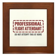 Professional Flight Attendant Framed Tile