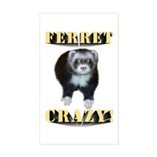 Ferret Crazy Rectangle Decal