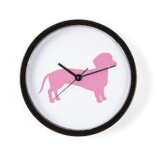 Pink Dachshund Dog Wall Clock