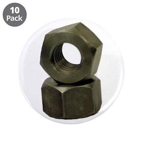 "I am a nut. 3.5"" Button (10 pack)"