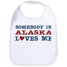 Somebody in Alaska Loves Me Bib