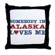 Somebody in Alaska Loves Me Throw Pillow