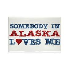 Somebody in Alaska Loves Me Rectangle Magnet