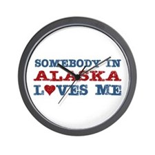 Somebody in Alaska Loves Me Wall Clock