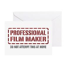 Professional Film Maker Greeting Card