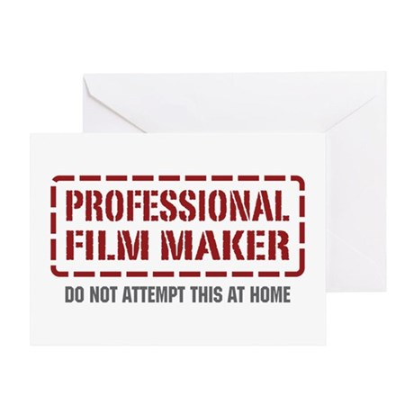 Professional Film Maker Greeting Card
