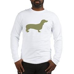 Sage Green Dachshund Long Sleeve T-Shirt