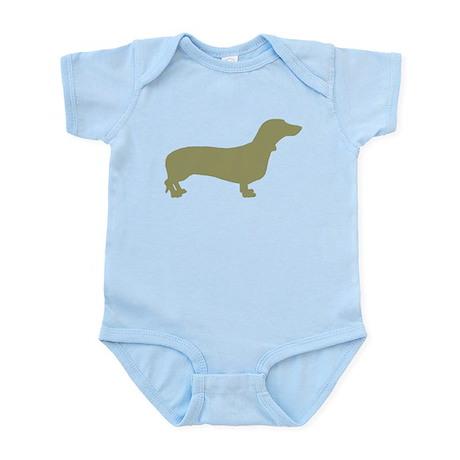 Sage Green Dachshund Infant Bodysuit
