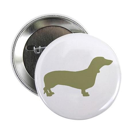 """Sage Green Dachshund 2.25"""" Button (10 pack)"""