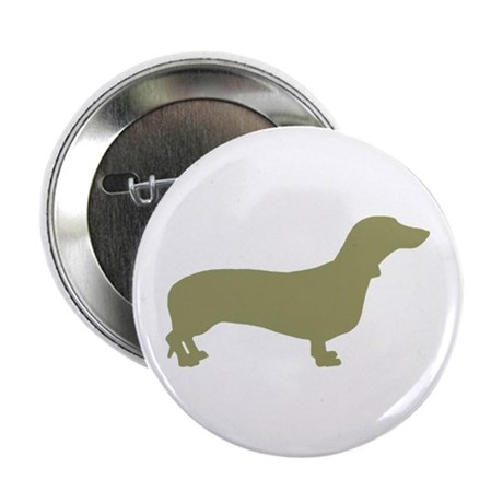 """Sage Green Dachshund 2.25"""" Button"""