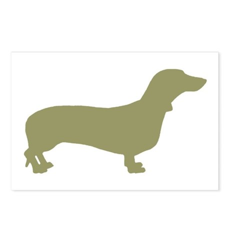 Sage Green Dachshund Postcards (Package of 8)