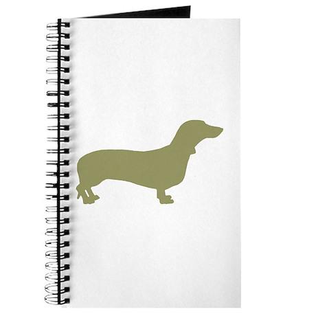 Sage Green Dachshund Journal