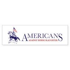 Americans Against Horse Slaughter Bumper Car Sticker