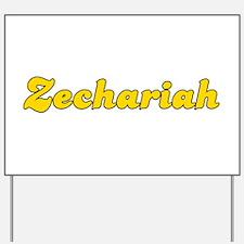 Retro Zechariah (Gold) Yard Sign