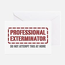 Professional Exterminator Greeting Card