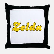 Retro Zelda (Gold) Throw Pillow