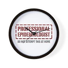 Professional Epidemiologist Wall Clock