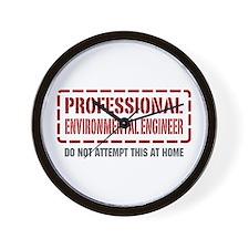 Professional Environmental Engineer Wall Clock