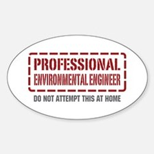 Professional Environmental Engineer Oval Decal