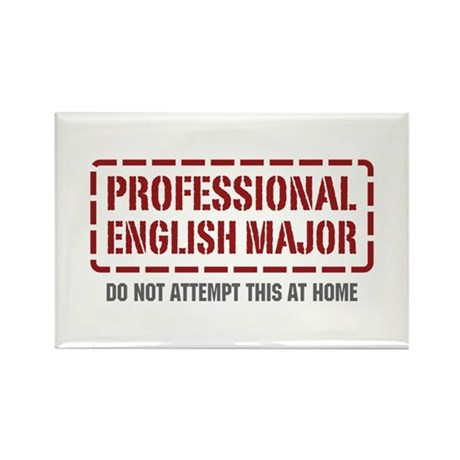 Professional English Major Rectangle Magnet (10 pa