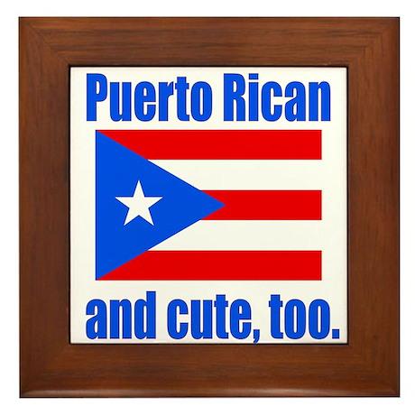 Cute Puerto Rican Framed Tile