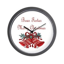 Portuguese Christmas Wall Clock