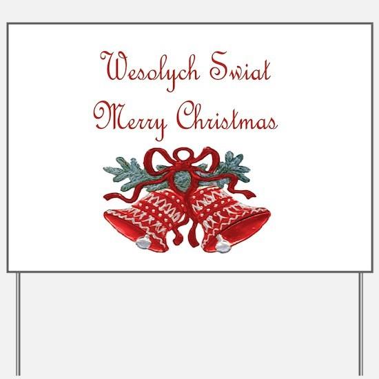 Polish Christmas Yard Sign