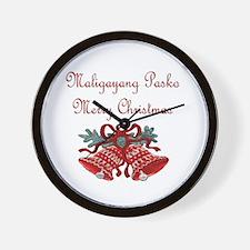 Filipino Christmas Wall Clock